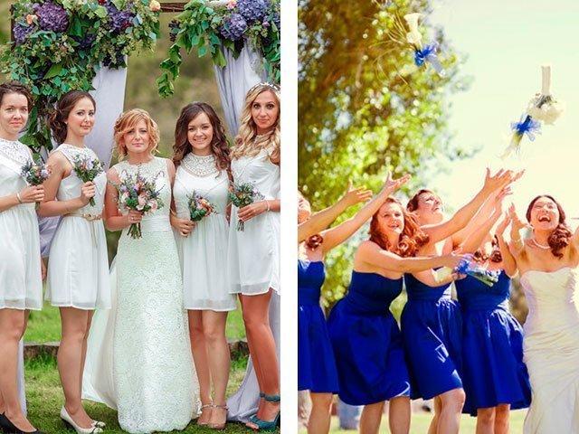 Короткие платья на свадьбу для подружки