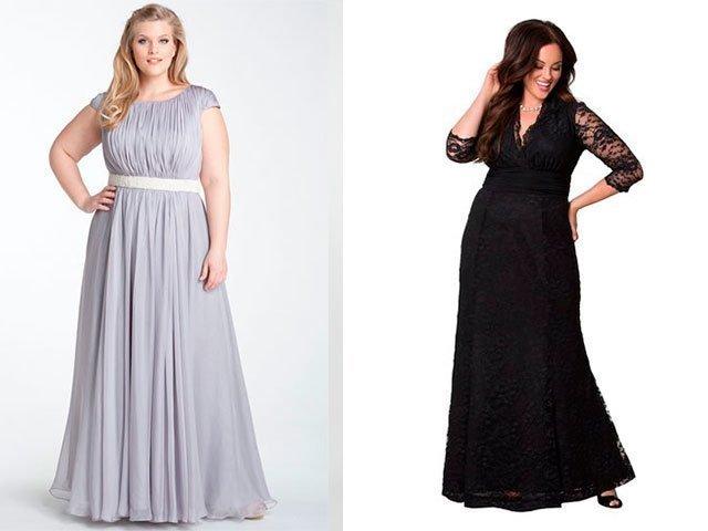 Фасоны платьев длинных с длинным рукавом для полных женщин