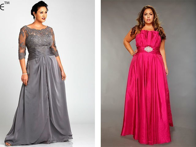Красивые вечерние длинные платья для полных женщин