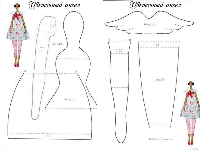 Сшить куклу интерьерную выкройки и пошаговая инструкция