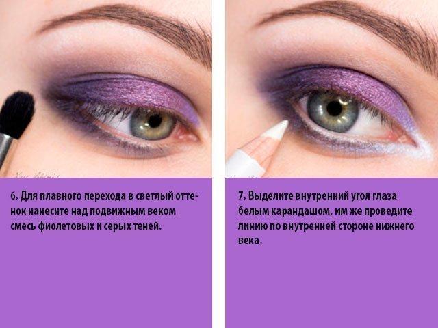 Как научиться красиво красить тени пошагово