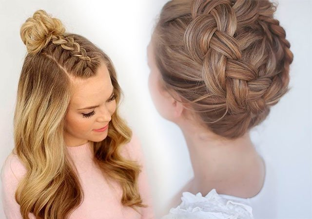 Плетение кос в домашних условиях на средние волосы