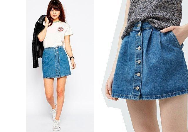 Джинсовие юбки