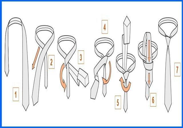 Посмотреть как завязывать галстук