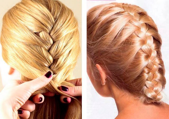 Плетение волос на длинные волосы
