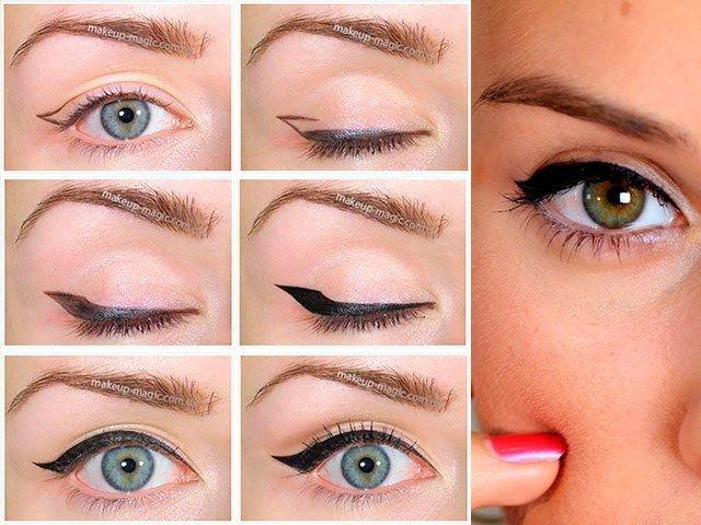 Чем рисовать стрелки на глазах если нет карандаша