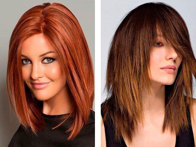Причёски для круглого лица с длинными волосами