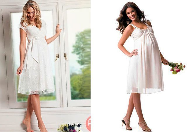 Короткие свадебные платья фото самара