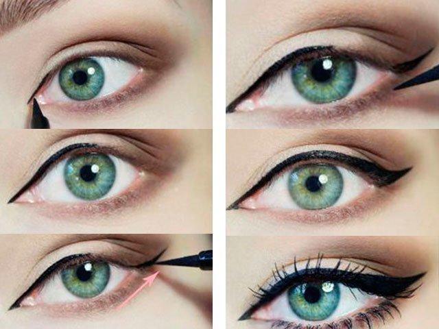 стрелки на глазах фото пошагово