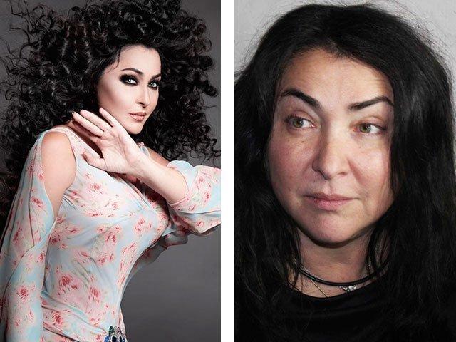 русские звезды с макияжем и без макияжа фото