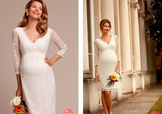 Платья на свадьбу для беременной невесты