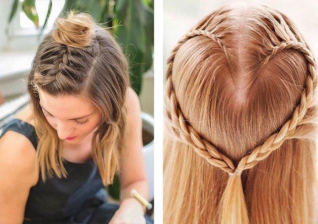 Плетение косичек на средние волосы фото пошагово