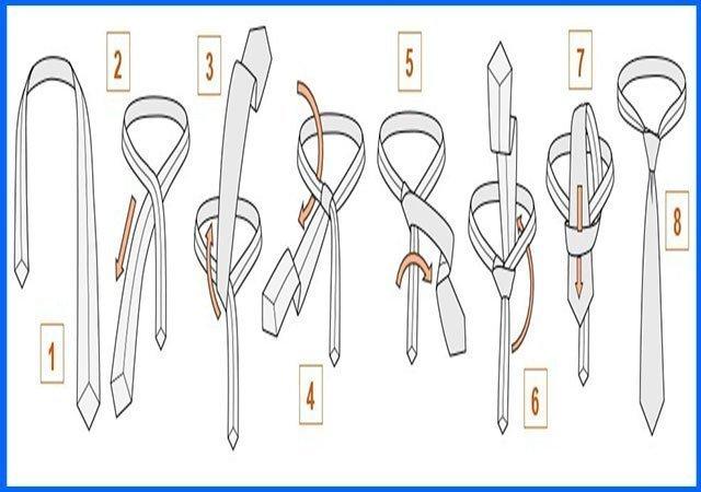 Галстук как завязать пошаговая инструкция