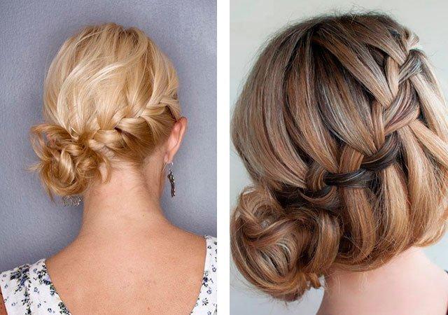 Плетение причесок на средние волосы на торжество