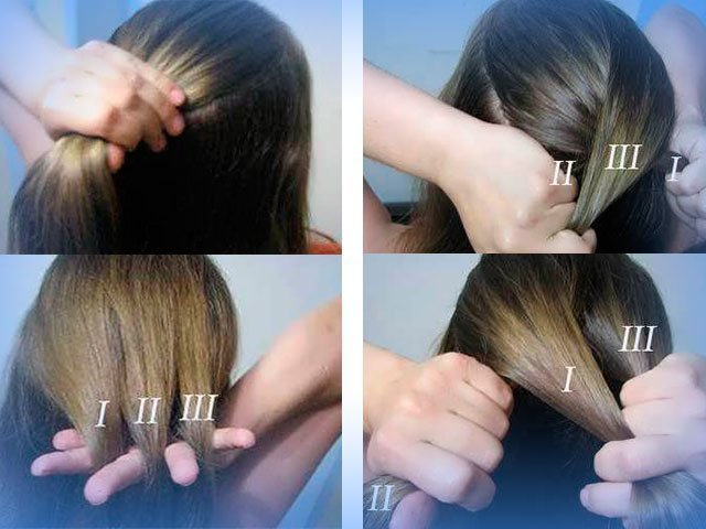 Коса колосок как плести
