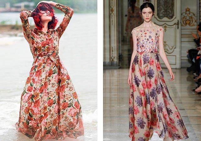 Фасоны платьев в цветы
