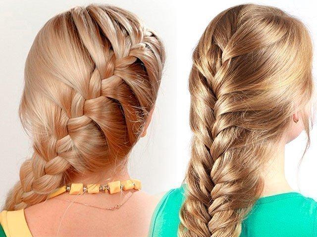 картинки прически на средние волосы колосок