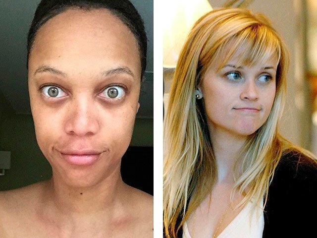 Лицо безшопа и макияжа