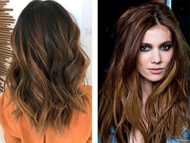 Окрашивание волос в темный цвет