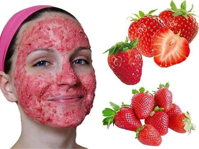 В домашних условиях маска для лица из клубники рецепты