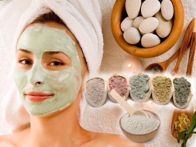 Маска для увядающей кожи лица из глины