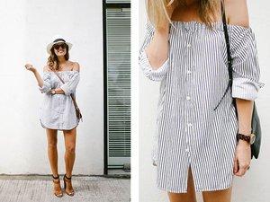 Выкройка платья рубашки - с чем носить платье рубашку фото