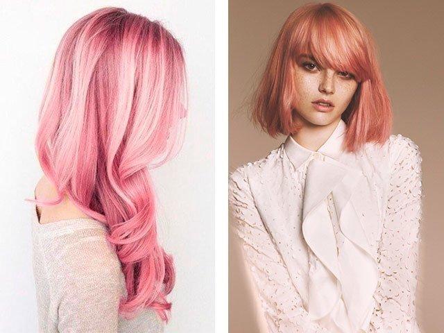Розовый цвет волос на короткие волосы