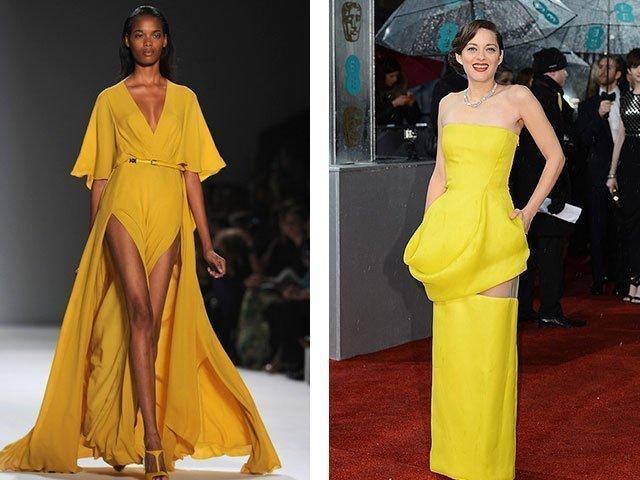 Описание платья желтого цвета
