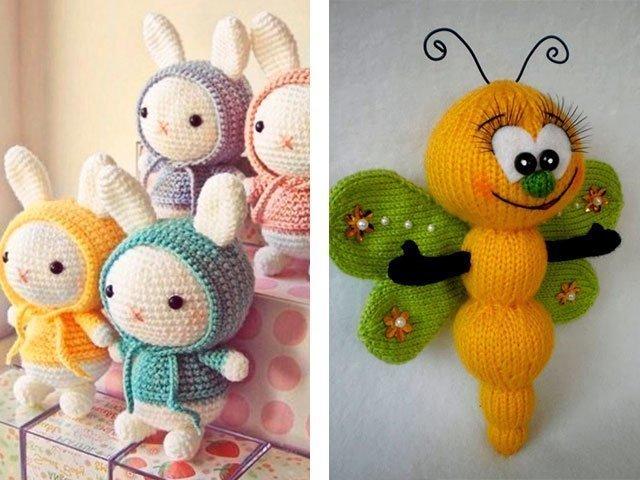 Вязаные игрушки спицами для детей своими руками 10