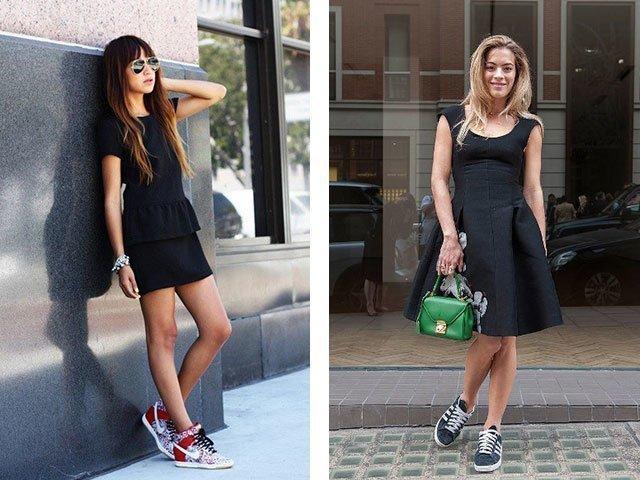 Черное платье до икр