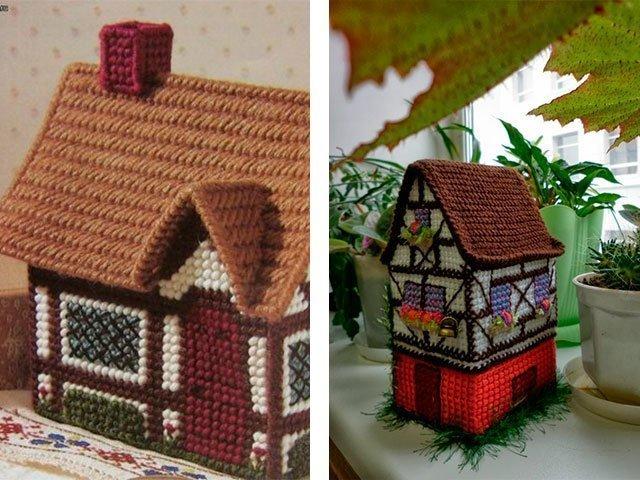 Вязанные домики схема