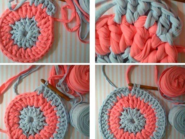 Как вязать круглый коврик