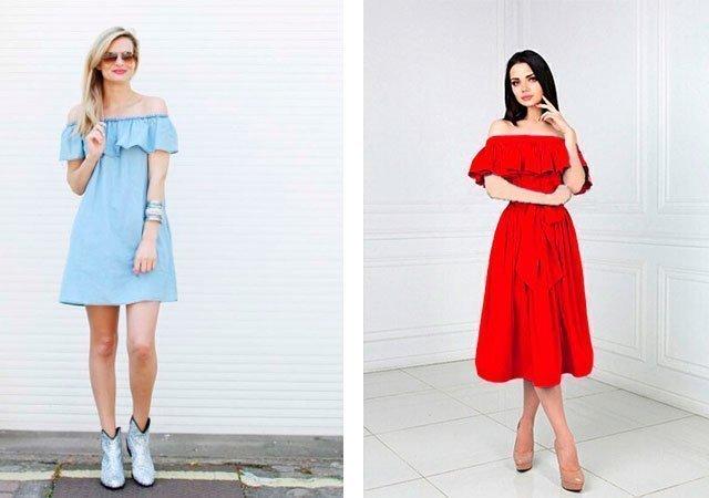 Как сшить себе платье с открытыми плечами