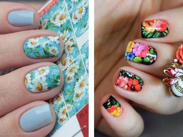 Как красиво сделать рисунок из гель-лака на ногтях