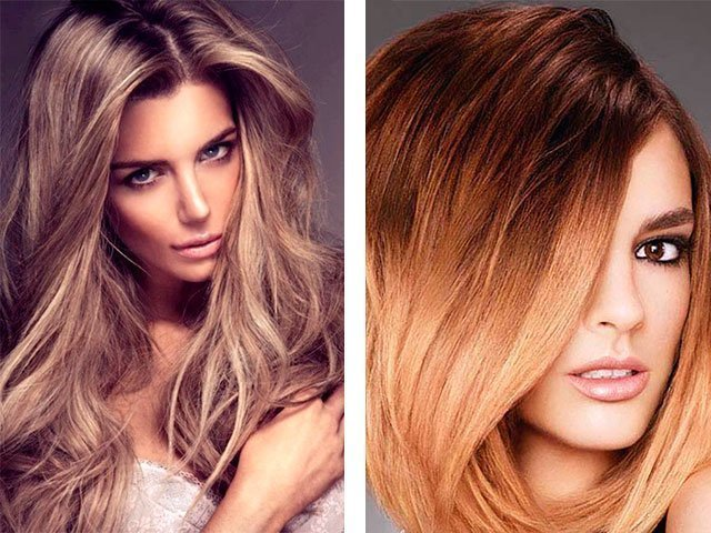 Колорирование средние русые волосы