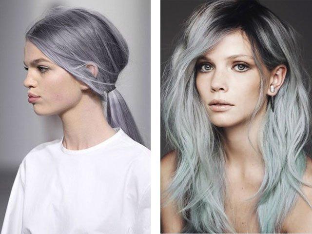 Цвет волос фиолетово пепельный