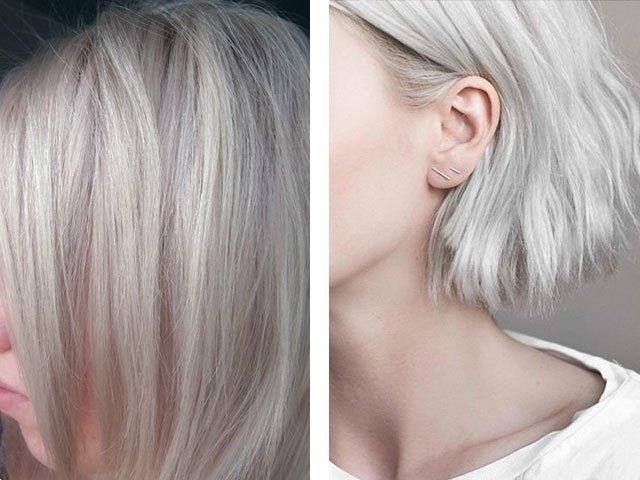 Платиновый блонд на русые волосы