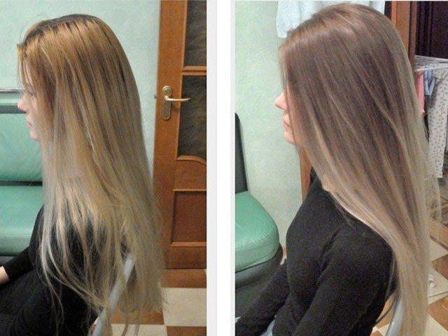 блондирование волос фото на русые волосы