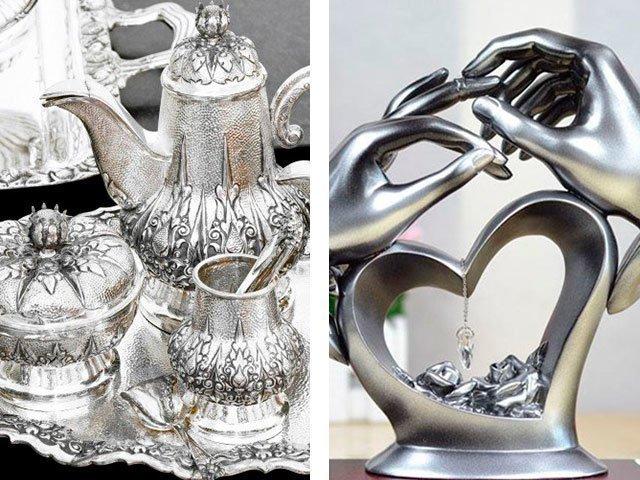 Серебряные подарки на свадьбу