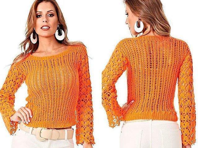 Как вязать свитер спицами для начинающих пошагово