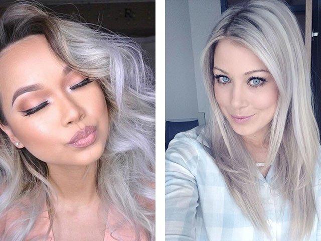 Голубы у нее цвет волос