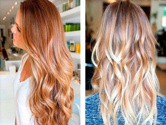 Мелирование и колорирование на русые волосы фото
