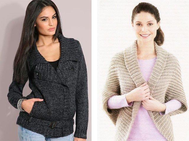 Модные вязаные свитера спицами со схемами 2016 819
