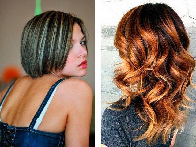 Модное колорирование волос 2017 фото на темные