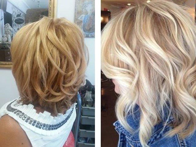 Балаяж на светлые волосы фото короткие