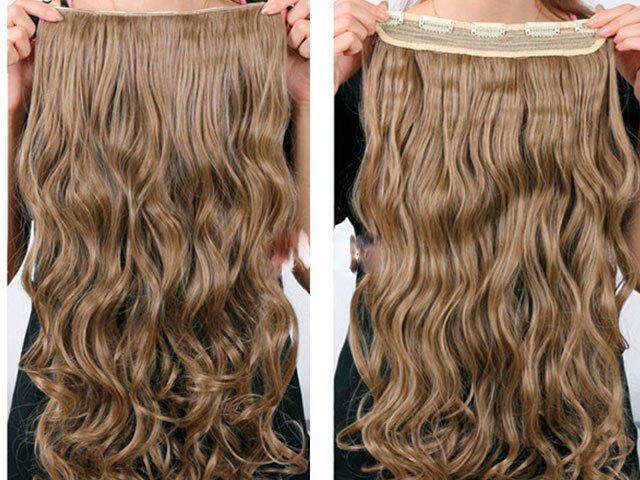 Пряди на заколках из натуральных волос