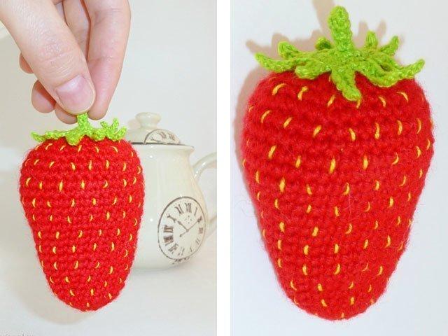 Схемы и вязаные крючком фрукты и овощи