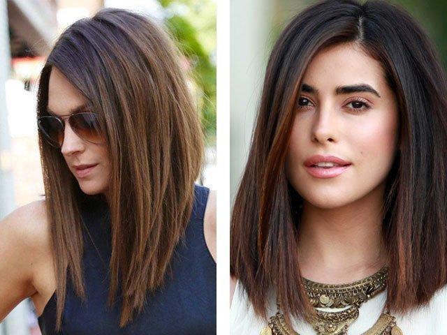 Двойной каскад на средние волосы фото