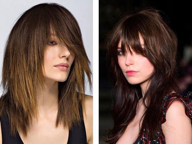 Причёски каскад с челкой 2017
