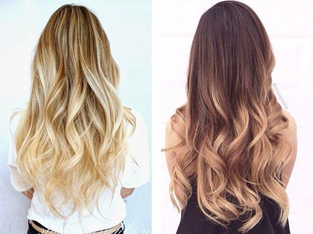 Светлое окрашивание на длинные волосы